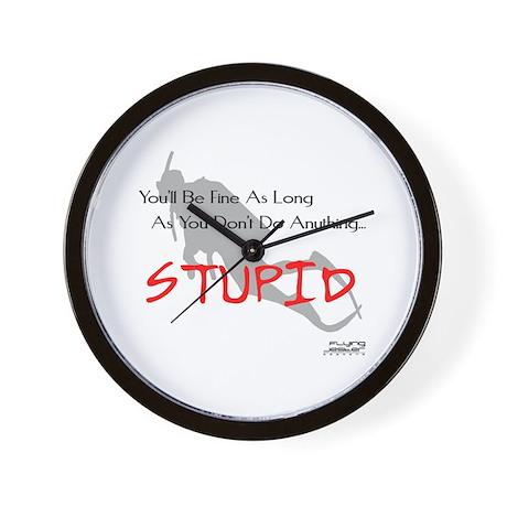 Don't Do Anything Stupid Scuba Wall Clock