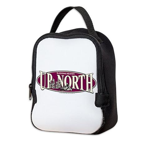 Up North Nortwoods Snowmobiler Neoprene Lunch Bag
