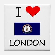 I Love LONDON Kentucky Tile Coaster