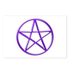 Purple Pentacle Postcards (Package of 8)