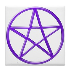 Purple Pentacle Tile Coaster