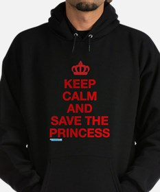 Keep Calm And Save The Princess Hoodie (dark)