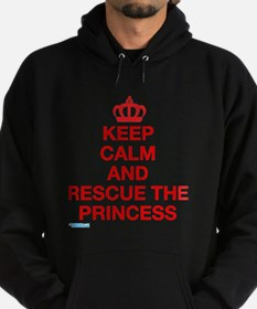 Keep Calm And Resuce The Princess Hoodie (dark)