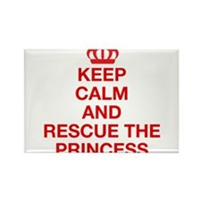 Keep Calm And Resuce The Princess Rectangle Magnet