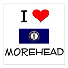 "I Love MOREHEAD Kentucky Square Car Magnet 3"" x 3"""