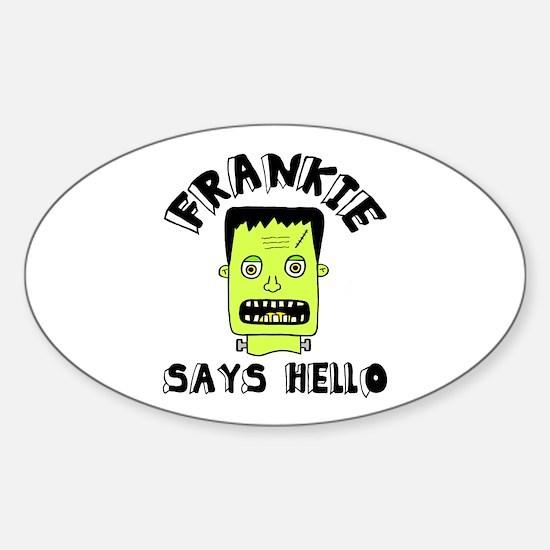 'Frankie' Sticker (Oval)