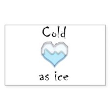 Cold as ice Rectangle Decal