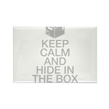 Keep Calm And Hide In The Box Rectangle Magnet