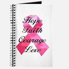 Pink Camouflage Ribbon Journal