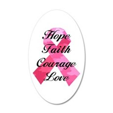 Pink Camouflage Ribbon Wall Decal
