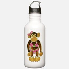 Polka Dot Bikini Monke Water Bottle