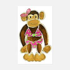 Polka Dot Bikini Monkey Decal