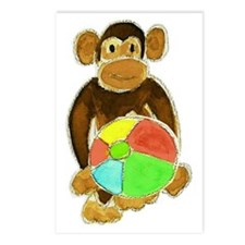 Beachball Monkey Loves th Postcards (Package of 8)