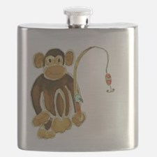 Monkey Gone Fishing Flask