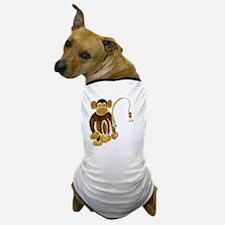 Monkey Gone Fishing Dog T-Shirt