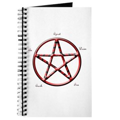 Labelled Pentacle Journal
