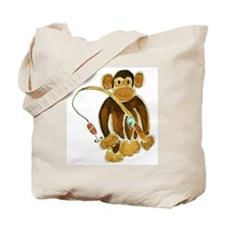 Monkey Gone Fishing Tote Bag