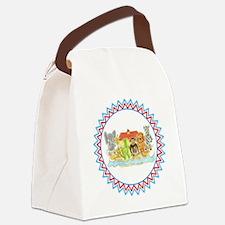 Noah's Ark Critters Zig Zag Canvas Lunch Bag