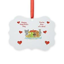 Noah's Ark Valentine's Ornament