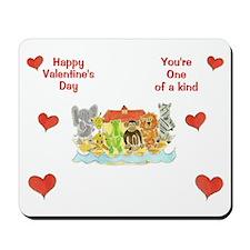 Noah's Ark Valentine's Mousepad