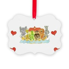 Noah's Ark Hearts Ornament