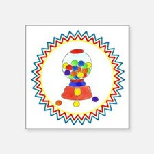 "Gumball Machine Zig Zag Square Sticker 3"" x 3"""