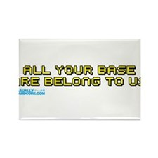 All Your Base Are Belong To Us Rectangle Magnet
