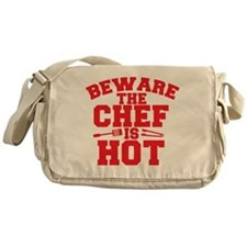 BEWARE THE CHEF IS HOT! Messenger Bag