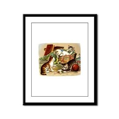 Crafty Kittens Framed Panel Print