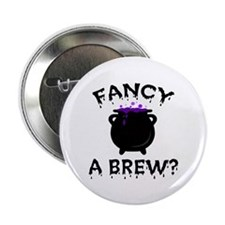 "'Fancy a Brew?' 2.25"" Button (10 pack)"