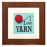 I Love Yarn Framed Tile