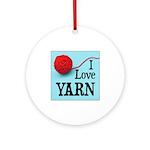 I Love Yarn Ornament (Round)