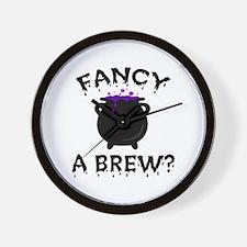 'Fancy a Brew?' Wall Clock