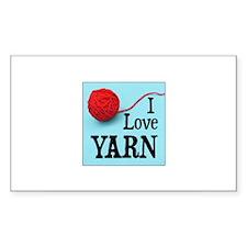 I Love Yarn Rectangle Decal