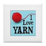 I Love Yarn Tile Coaster