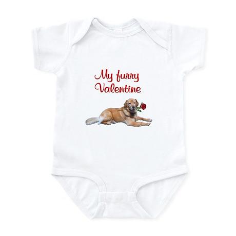 Golden retriever Valentine Infant Bodysuit
