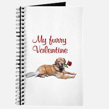 Golden retriever Valentine Journal