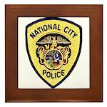 National City Police Framed Tile
