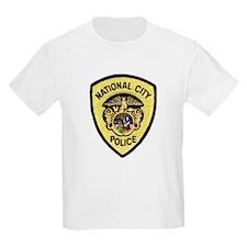 National City Police Kids T-Shirt
