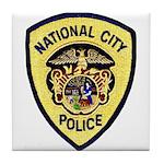 National City Police Tile Coaster