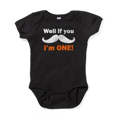 If You Mustache Im One Baby Bodysuit