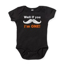 If You Mustache Im One Baby Bodysuit