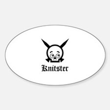 Knitster Skull Oval Decal