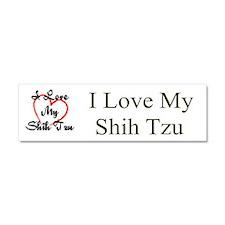 I Love My Shih Tzu Car Magnet 10 x 3