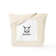 Knitster Skull Tote Bag