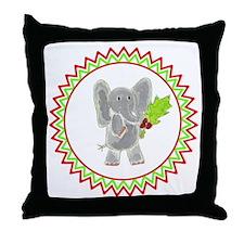 Holly Elephant Zig Zag Throw Pillow
