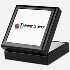 Knitting Is Sexy Keepsake Box