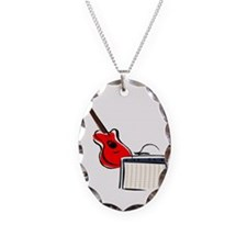 stylized guitar amp red. Necklace