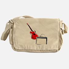 stylized guitar amp red. Messenger Bag