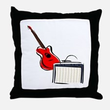 stylized guitar amp red. Throw Pillow